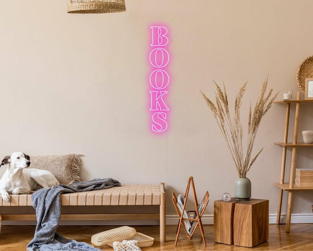 Books Neon Sign