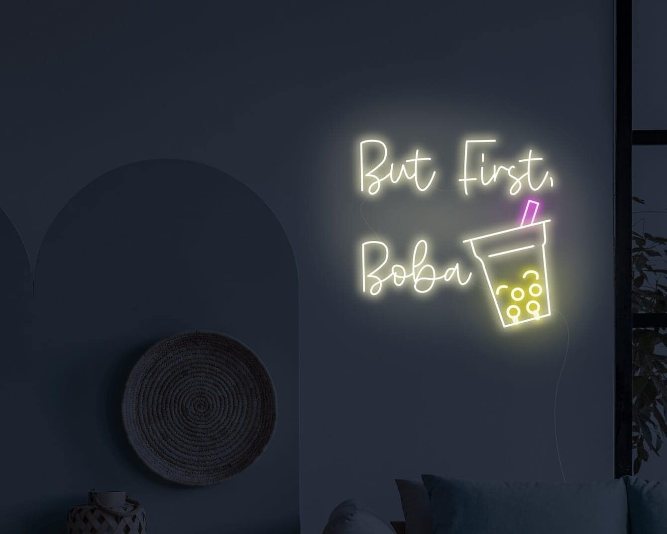 But First Boba Neon Sign