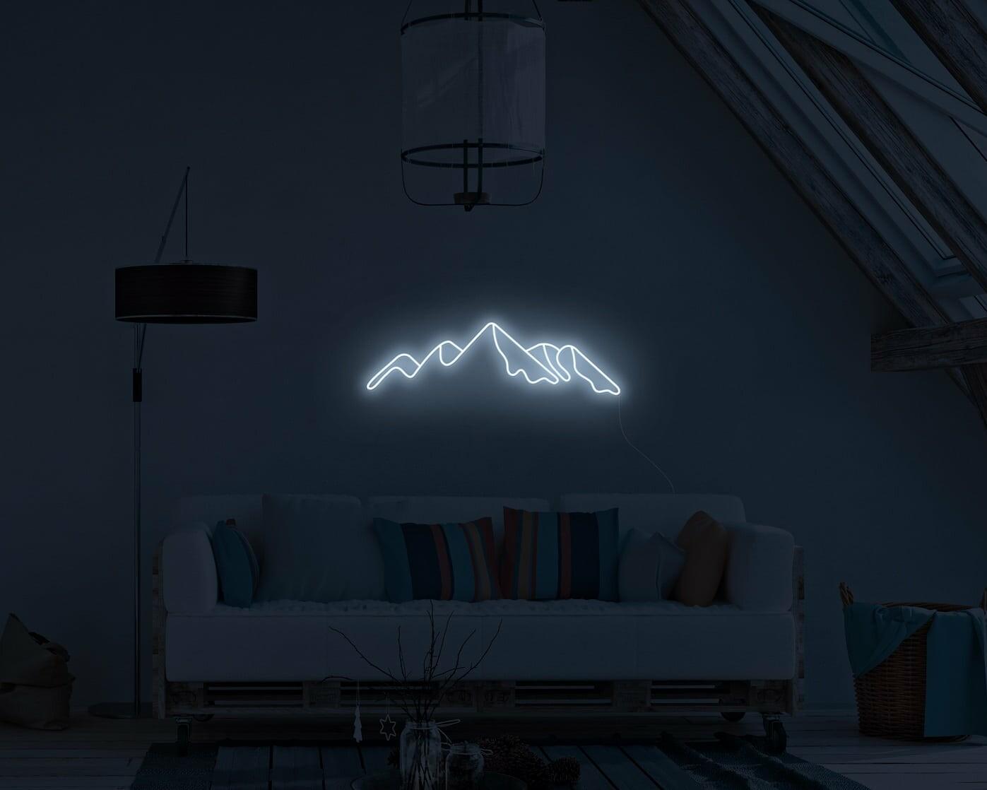Mountain Skyline Neon Sign