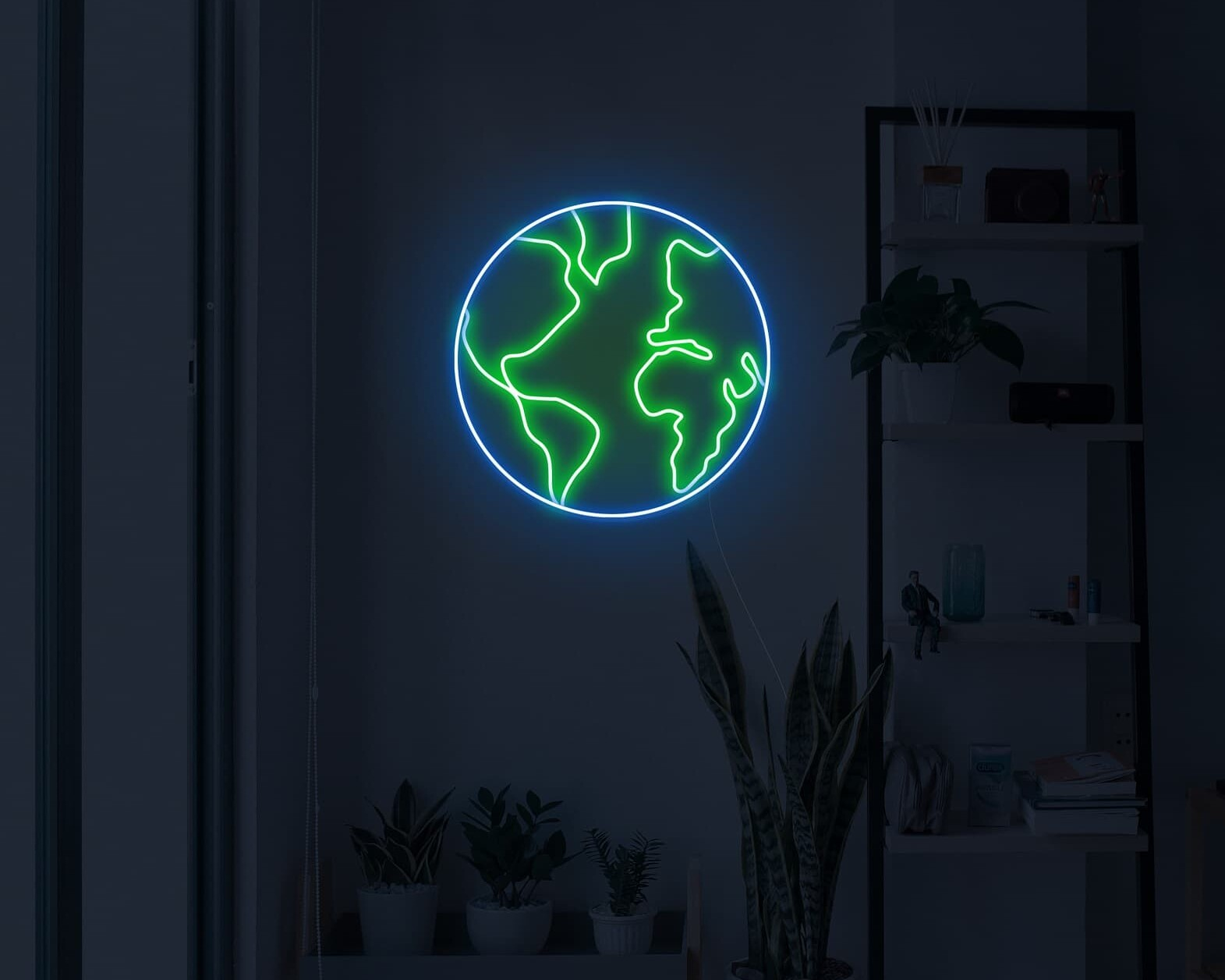 Planet Earth Neon Sign