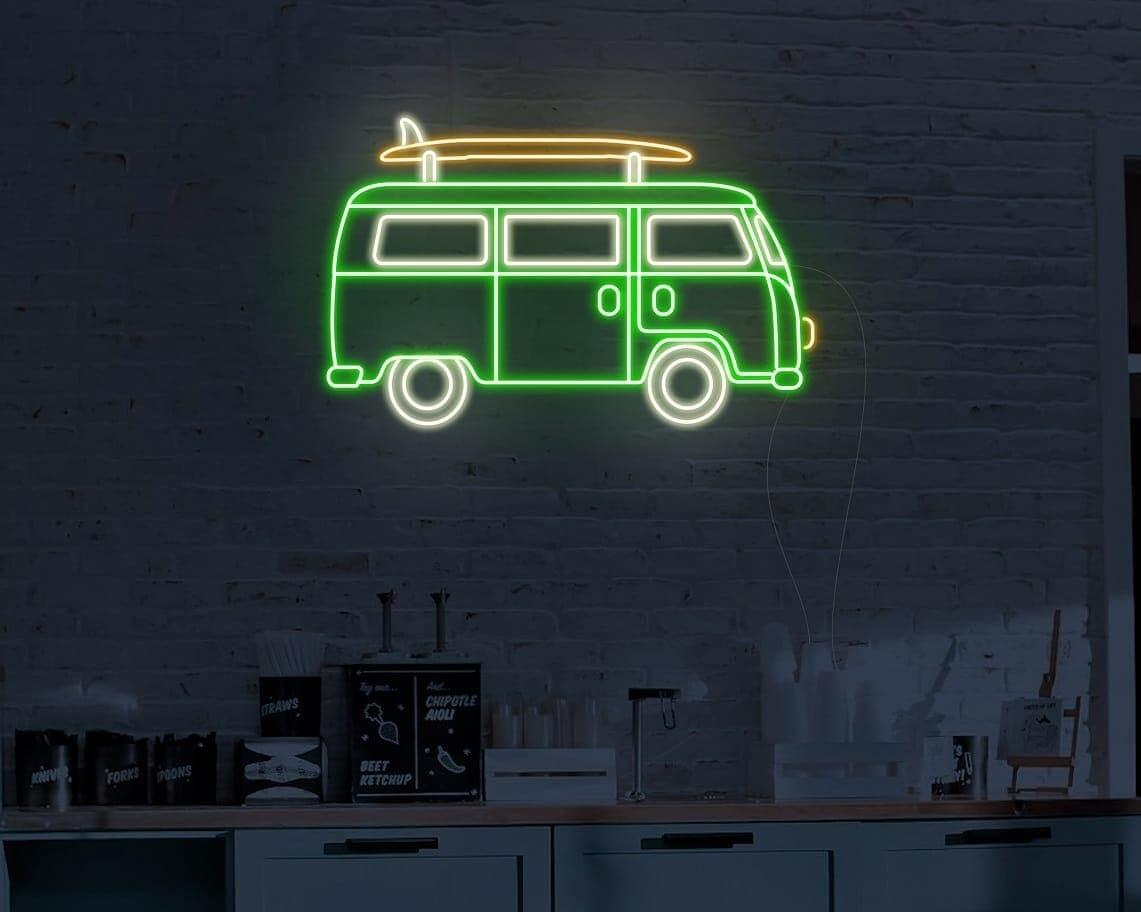 Surfer Caravan Neon Sign